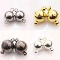 5/10Pcs Silver/Gold Plated Round Strong Magnetic Clasps Hooks Jewelry Findings