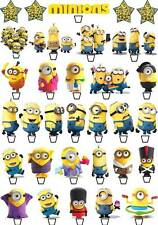 64 Minions Despicable Me 2015 Birthday Cup Cake Fairy Toppers Wafer Edible STAND