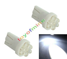2X T10 W5W 501 194 168 Pur ampoule blanche voiture 4 LED Wedge Side Lampe 12V