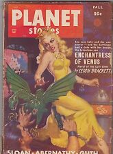 FALL 1949 - PLANET STORIES - vintage science fiction pulp magazine PINUP GIRL