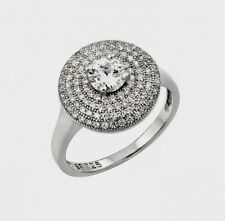 STR00942/ 925  STERLING SILVER LADIES MICRO PAVE  DESIGNERS  RING W/ DIAMOND