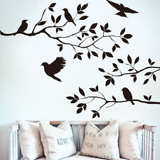 Black Tree Bird Removable Wall Sticker Vinyl Decal Mural Home Room DIY Decor New