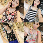 Women Fashion Chiffon Floral Sleeveless Tank Vest Tops Blouse T-shirt Tops New