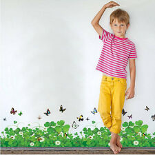 Hot PVC Removable Mural Four Leaf Clover Butterfly Wall Sticker Decal Home Decor