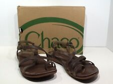 CHACO Women's Dorra Size 7 Dark Earth Strappy Sport Sandals Shoes X1-1499