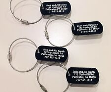 Personalized Aluminum Luggage tags(set of 4) with free cable!! (no HBO)