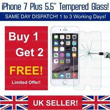 """Apple iphone 7 Plus 5.5"""" Protector De Pantalla Cristal Templado para 3 piezas"""