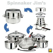 NEW! Magma A10-360L NESTING COOKWARE 10 Piece 18-10 Stainless Steel Boat RV Home