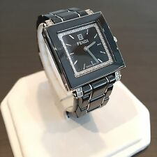 Fendi Orologi Watch Black Ceramic Stainless Steel 0.30 tcw Diamonds SOLD OUT