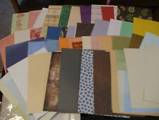 Approx Half Kilo pack of assorted A4 craft card & paper [ 40 to 50 sheets ]