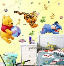 Kids WINNIE THE POOH Play Wall Stickers Art Decals Removable&Transparent
