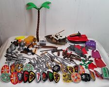 100+ Huge of Playmobile weapons shields helmets swords guns boat skeleton toys