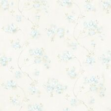 MEA44109 Aqua Country Floral Wallpaper DOUBLE ROLL  BID FOR LOWEST PRICE