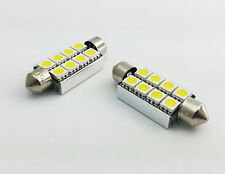 2x C10W 42MM 8 SMD LED CAN BUS OBC ERROR FREE INTERIOR BLUE bulbs D