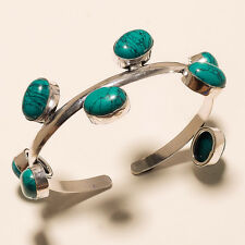 TURQUOISE 925 STERLING SILVER PLATED GEMSTONE CUFF/BRACELET JEWELLERY