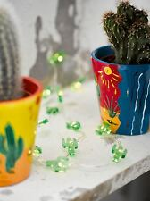 3m Mini Cactus Mexican Cowboy Party Fairy Indoor LED Light Battery String Wire