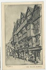 Raphael Tuck Postcard, Old Houses, Holborn - Posted 1946