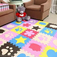 10Pcs Baby Kids Toddler Play Crawl Crawling Puzzle Mat Pad Rug Carpet Blanket