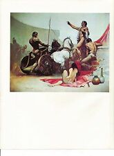 "1978 Full Color Plate ""Roman Chariot"" by Frank Frazetta Fantastic"