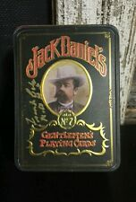 Jack Daniels Playing Cards With Tin- 2 Decks Signed Frank Bobo