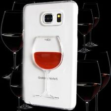 For Samsung Galaxy Note 5 - Luxury Red Wine Liquid Transparent Hard Case Cover