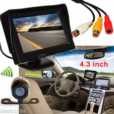 "4.3"" TFT LCD Car Rear View Monitor + Wireless Night Vision Backup Reverse Camera"