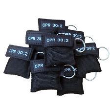 100 X RCP Máscara Llavero Face Shield DAE Formación Negro