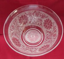 "INDIANA TIARA  DEPRESSION GLASS LARGE SANDWICH GLASS 9-1/4"" WIDE MIXING BOWL"