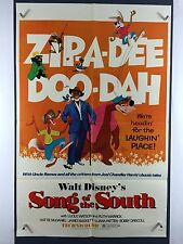 SONG OF SOUTH (Fine+) Movie Poster 1972 ReRelease One Sheet Walt Disney 2671