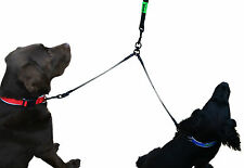 Stress Relieving Bungee Coupler - Perfect Solution for Walking Two Dogs at Once!