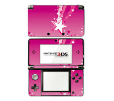Vinyl Skin Decal Cover for Nintendo 3DS - Pink Shooting Stars