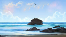"""perfact 48x24 oil painting handpainted on canvas""""Beach Ocean"""" @NO3344"""