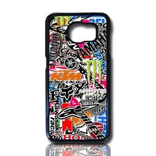 funda carcasa para samsung galaxy s7 edge stickers marcas logos  motos case
