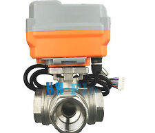 """New 1"""" 3 Way T SS304 Proportional Integral Control Motorized Electrical Valve"""
