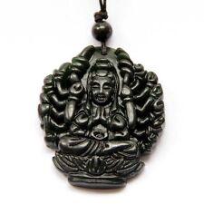 Jade Amulet Pendant Tibet Buddhist Thousand-Hand Kwan Yin Guanyin Bodhisattva