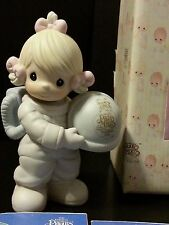 Precious Moments Figurine 1992 Membership Club Out Of This World Girl Astronaut