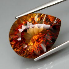 20.80Ct.Attractive Color HUGE Imperial Whisky Topaz Pear Concave Perfect Cut!
