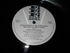 """Elvis Costello & The Attractions - The Only Flame In Town 12"""" Single New Wave UK"""