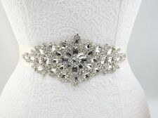 Bridal Rhinestone Applique - Wedding Trim - Bridal Belt DIY - USA