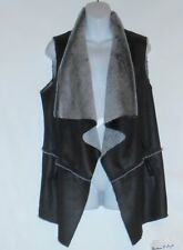 Jones New York Signature Woman Plus Size Faux Leather Asymmetrical Vest 2X NWT