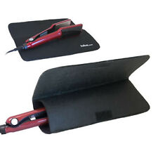 Black Heat Travel Mat +Pouch for GHD / Any Straighteners BSI Approved Material
