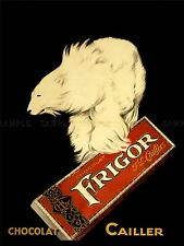 ADVERTISING FOOD CHOCOLATE FRIGOR POLAR BEAR PARIS FRANCE ART POSTER PRINT LV882