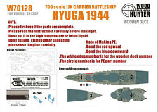 Wood Hunter 1/700 IJN Battleship Hyuga 1944 Wooden Deck for Fujimi kit #431307
