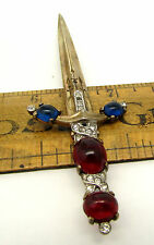 BEAUTIFUL & RARE VINTAGE CROWN TRIFARI ALFRED PHILIPPE SWORD BROOCH - STERLING