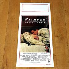 VALMONT locandina poster Colin Firth Tilly Bening Nobilta' Francia XVIII Bacio