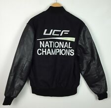 VINTAGE UCF KNIGHTS NATIONAL CHAMPIONS USA VARSITY LEATHER LETTERMAN JACKET M/L