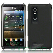 2x Pellicola+Custodia hard cover NERA per LG Optimus 3D