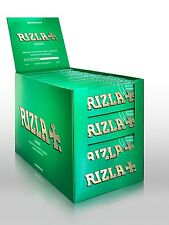GENUINE ORIGINAL Rizla Green Cigarette Rolling Papers 100 Booklets Full Box