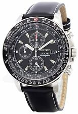 Seiko Pilots Solar Chronograph Flightmaster SSC009P3 Mens Watch