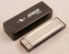 NEW SWAN BLUES POWER DIATONIC BLUES HARMONICA IN THE KEY OF C - FREE POST